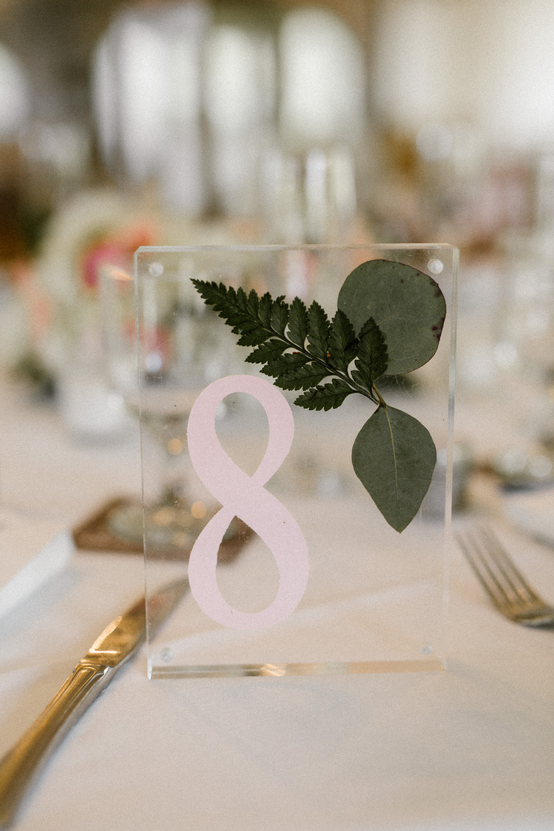 Acrylic Frame Table Numbers - Blossom & Basket Boutique