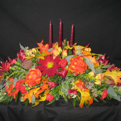 Three Tapered Candle Arrangement