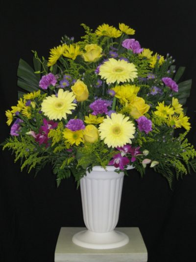 Gold and Purple Urn