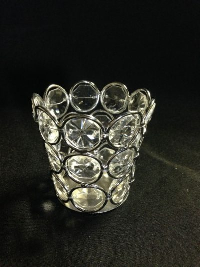 Crystal Beaded Votive