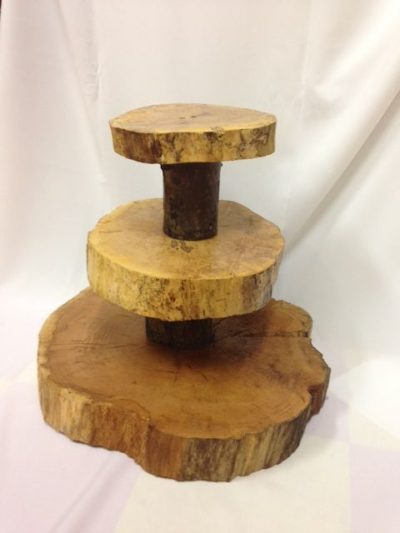 Tree Wood 3 Tier Dessert Stand