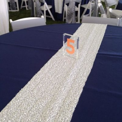 White Sequin Table Runner