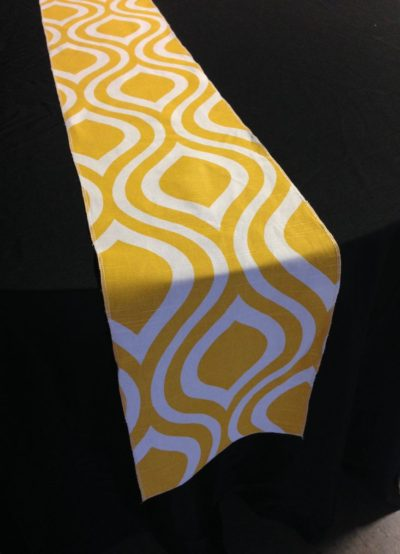 Droplet Table Runner - Yellow & White
